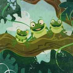 Three Little Green Frogs  Fine Art Print from by RenataandJonathan, $35.00 https://www.etsy.com/treasury/NTM5ODkzNXwyNzI2MDQwOTcw/transition