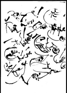 Christian Dotremont - Asemic writing