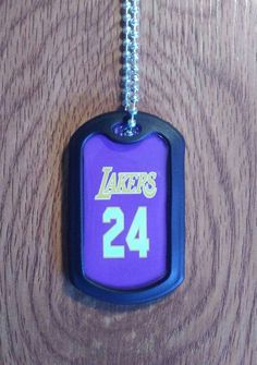 Dog Tags - Los Angeles lakers military dog tag by LegacySportsJewelry on Etsy