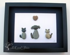 Personalized Animal Lover Gifts - Animal Themed Pebble Art - Pebble Art Pets - Unique Home Decor on Etsy, $75.00 CAD