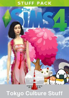 "The Sims 4 Tokyo Culture Stuff is an upcoming stuff for The Sims 4. It will be released in June 2017. New Clothing Traditional Japenese Outfits, Fancy Japenese Outfits, Haircut of Tokyo, Sushi Chef Outfit, Samurai Outfit, Dojo Outfit, New Tokyo Makeup, Koi Fish Tattoo, ""I Love Tokyo"" shirt, Tokyo Sandals"