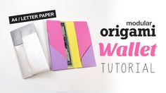 Watch this video to learn how to make a cool origami wallet, this version you can make with A4 or letter paper, it's pretty easy and has a nice two colored l...