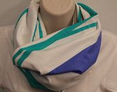 striped cotton infinity scarf jersey scarf cowl woman/girl circle scarf nomad cowl