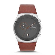 Havene Men's Three-Hand Chronograph Leather Watch