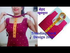 Kurti Back Neck Designs, Chudithar Neck Designs, Kurta Neck Design, Neck Designs For Suits, Sleeves Designs For Dresses, Blouse Neck Designs, Kurta Designs, Stylish Blouse Design, Fancy Blouse Designs