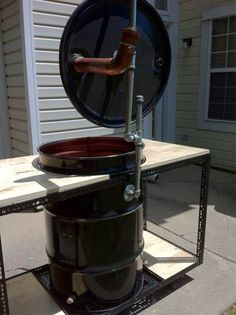 Ugly Drum Smoker [Archive] - Page 39 Barrel Smoker, Barrel Grill, Pit Barrel Cooker, 55 Gallon Drum Smoker, Ugly Drum Smoker, Uds Smoker, Smoker Designs, Custom Bbq Pits, Fire Pit Bbq