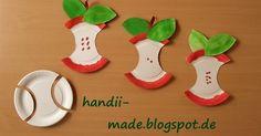 Für unsere Herbstfenster haben die Kinder diese leckeren Äpfel aus  Papptellern gestaltet. Dazu bekam jedes Kind einen Pappteller und eine ...