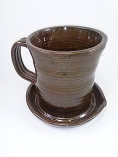 Aunt Chris Pottery - Unique New Way of Cooking Bacon - Primitive Amber Brown Glazed Colored > More infor at the link of image @ : bakeware