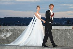 Pierre Casiraghi and Beatrice Borromeo on their wedding day - Featured in the French Vogue