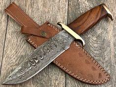 Damascus Blade, Damascus Steel, Handmade Chef Knife, Shotguns, High Carbon Steel, Knife Making, Zombie Apocalypse, Walnut Wood, Yolo
