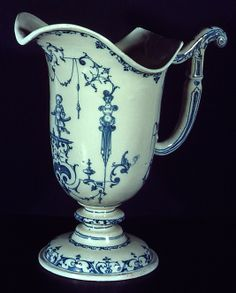 Ewer  Date: ca.1710–20 Culture: French, Moustiers Medium: Faience (tin-enameled earthenware) Dimensions: H. 11-1/8 in. (28.3 cm)