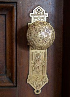 Eastlake aesthetic doorknob.
