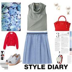 パーソナルカラーサマー #プリーツスカー - bqi4AeYHxFa9WKU's コーディネート Fasion, Women's Fashion, Color Me Beautiful, Soft Summer, Summer Colors, Pink White, Ideias Fashion, Style Me, Cute