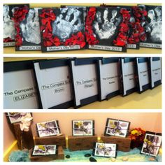Mother's Day gifts! Hand print magnets with fresh flowers modge podged Wrapped in recycled bubble wrap And tied with yarn Includes black and white photos of the kids reenacting them doing the project. Final touch: flowers from our walk