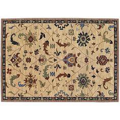 Karastan English Manor Preston Ornamental Floral Wool Rug