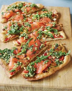 Norwegian Pizza w/ Smoked Salmon, Goat Cheese & Herb Oil [Recipe from Sweet Paul Magazine]
