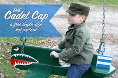 (9) Name: 'Sewing : Child's Cadet Cap, size 5