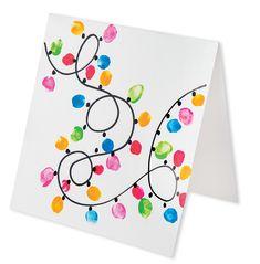Thumbprint Cards - ZartArt Childrens Christmas Crafts, Xmas Crafts, Kids Christmas, Christmas Cards, Crafts For Kids, Diy Crafts, Thumbprint Crafts, 5th Grade Art, Footprint Crafts