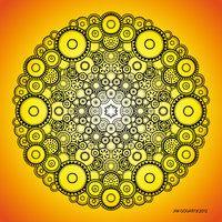 Mandala drawing 37 Coloured v2 by Mandala-Jim
