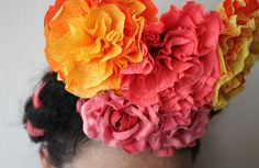 corner blog: how to make crepe paper flowers (my way!)