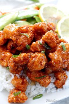 Sticky Honey Lemon Ginger chicken | Carlsbad Cravings
