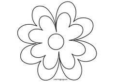 Large Flower Pot Coloring Page With Flower Pot Template Printable . Flower Petal Template, Paper Flower Tutorial, Paper Flowers Diy, Metal Flowers, Fake Flowers, Bible Coloring Pages, Flower Coloring Pages, Sunflower Stencil, Large Flower Pots