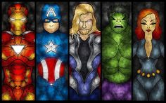 Avengers Stained Glass