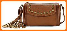 Scarleton Classic Tassel Crossbody Bag H194104 - Brown - Shoulder bags (*Amazon Partner-Link)