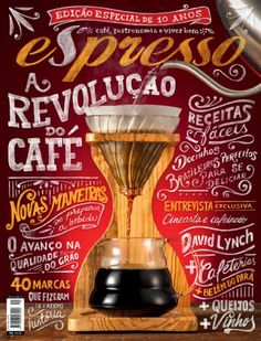 beautiful lettering on this coffee magazine from Brazil. Chalkboard Typography, Chalk Lettering, Typography Letters, Brush Lettering, Graphic Design Typography, Branding, Book Design, Layout Design, Design Art