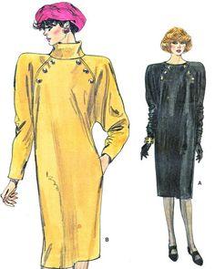 1980s Dress Pattern Vogue 9433 Raglan Sleeve Chemise or Sack dress by paneenjerez, $10.00