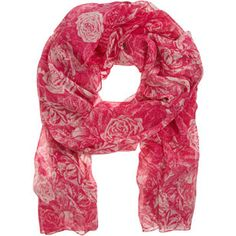 Allover Rose Scarf