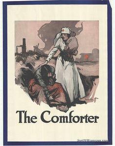 Red cross nurse, the comforter