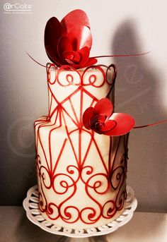 Red Valentino - Cake by @rcake