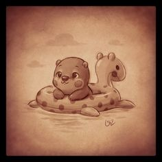 quick warm-up sketch... it's supposed to be a baby otter, lol.