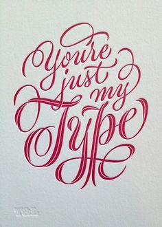 Beautiful type and letterpress