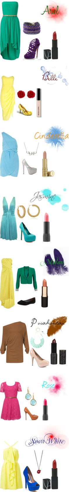 """""""Modern Day Disney Princesses"""" by wallie1899 on Polyvore"""