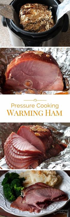 Heating Ham Slices in the Pressure Cooker is quick, easy, and doesn't dry out your ham like heating it in the oven can.