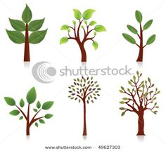 Vector trees - different sized leaves are good