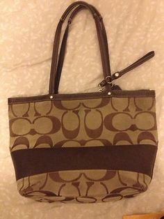 Coach bag purse signature brown ebay