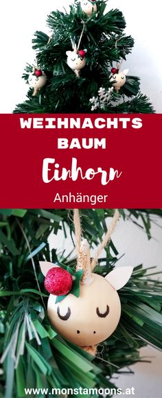 Einhorn Anhänger, unicorn ornament, Einhorn basteln, Einhorn DIY, unicorn crafts, christmas crafts, Weihnachtsbaumanhänger Unicorn Christmas Ornament, Christmas Ornaments, Unicorn Diy, Diy Videos, Diy For Kids, Holiday Decor, Crafts, Winter Diy, Inspiration