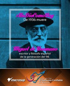 #UnDíaComoHoy 1 de enero pero de 1936 muere Miguel de Unamuno, escritor y filósofo español de la generación del 98.