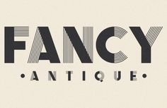 Fancy Antique Display; uppercase display font inspired by French decorative alphabets from the 1940s and 50s; The Infamous Foundry