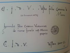 Signature and seal of Caterina Sforza in a letter to Bona of Savoy.  ca.  1478