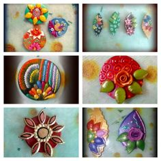 My clay brooch collection