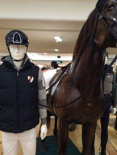 Harrods London - mannequin Man collection & accessories horse - Cofrad Mannequins #cofradmannequins