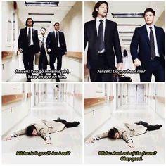"""Am I out of the frame?"" Hahaha. Oh, Misha. :)"