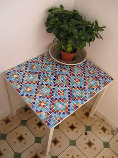 How to tile a table for dummies!