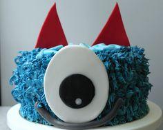 Funny monster cake