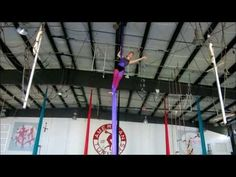 Aerial Silks Practice: Double Corkscrew Drop - YouTube