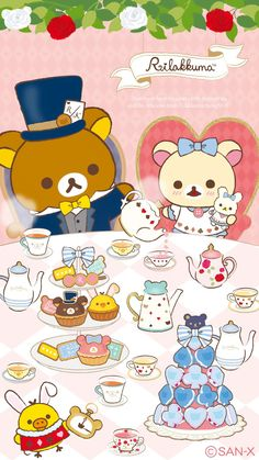 Sanrio Wallpaper, Rilakkuma Wallpaper, Hello Kitty Wallpaper, Kawaii Wallpaper, Best Iphone Wallpapers, Cute Wallpapers, Kawaii Drawings, Cute Drawings, Cute Backgrounds